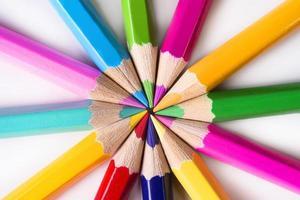 conjunto de lápis de cor multi desenho com espaço de cópia foto