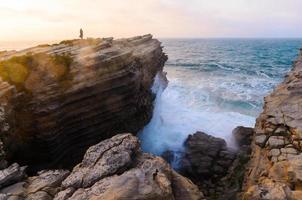 costa do oceano foto
