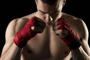 em um treinamento de kick boxing