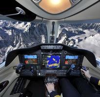 voando sobre o alp