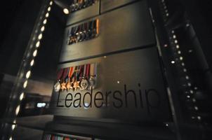 liderança e medalhas de honra