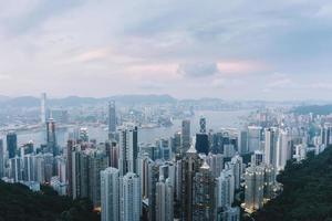 linha do céu de hong kong foto