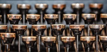 máquina de escrever retrô foto