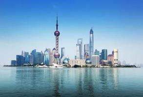 skyline de shanghai, china foto