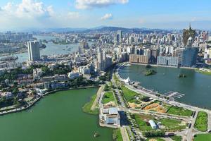 vista da cidade de macao foto