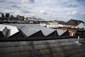 cenário da cidade industrial foto