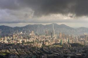 vista da paisagem urbana de Hong Kong foto