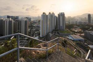 área residencial em hong kong foto