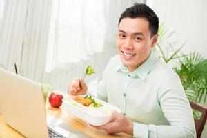 almoço vegetariano foto