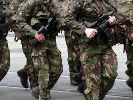 preparação de guerra de soldados