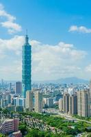 skyline da cidade de taipei foto
