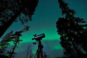telescópio e céu