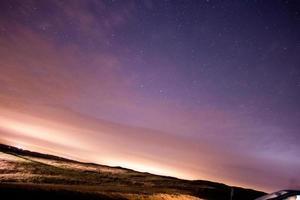 estrelas no céu noturno, perseid chuva de meteoros 2015 burton dassett