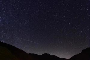 incrível noite estrelada foto