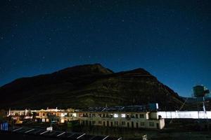 estrelas sobre o Himalaia