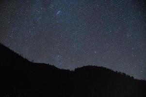 estrelas sobre yellowstone