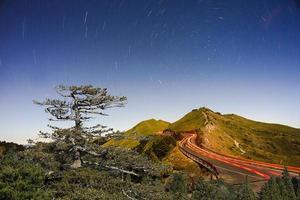 caminho para a trilha da estrela foto