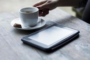 tablet e café