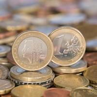 moeda de um euro holanda foto