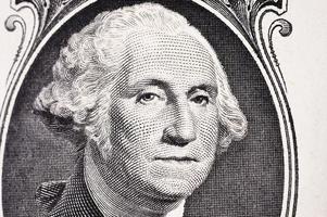 close-up de nota de cem dólares foto