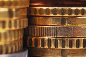 pilhas de euro foto