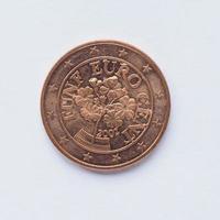 moeda austríaca de 5 cêntimos foto