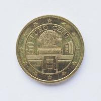 moeda austríaca de 50 cêntimos foto
