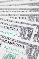 notas de dólar foto