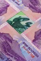 notas diferentes da rupia indonésia foto
