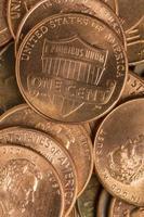 moedas de um centavo foto