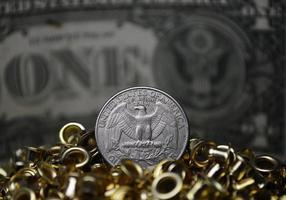 moeda do dólar dos estados unidos foto