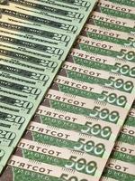 dólares e moeda da ucrânia foto