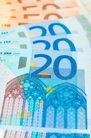 contas de 20 e 50 euros