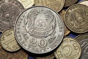 moedas do cazaquistão foto