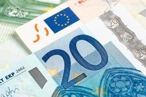 moeda do euro 20 foto