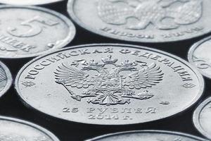 moedas de rublo foto