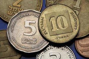 moedas de israel foto