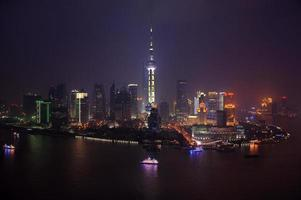 zona econômica lu jiazui em pudong, shanghai foto