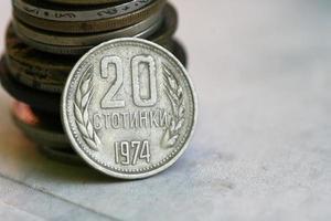 moeda antiga da Bulgária foto
