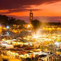 jamaa el fna, marraquexe, marrocos. foto