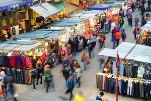 mercado molhado de hong kong mong kok foto
