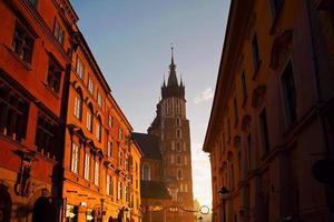 Basílica de Santa Maria em Cracóvia foto