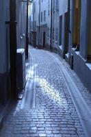 Rua estreita foto