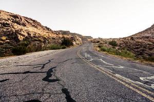 estrada do deserto de mojave foto