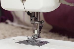 pé máquina de costura em casa