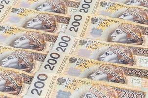 notas de 200 pln - zloty polonês foto