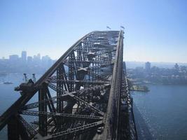 a ponte do porto da torre sul, sydney foto