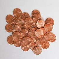 moedas de dólar 1 centavo foto
