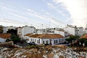 típica aldeia andaluza branca