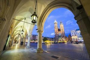 Praça do mercado em Cracóvia, Polônia foto